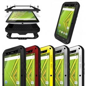 LOVE MEI Powerful Motorola Moto X Play mobilskal metall