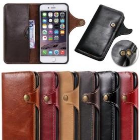 Retro Mobilplånbok Läder Apple iPhone 7/8 mobilskal fodral skinn