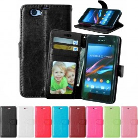 Mobilplånbok 3-kort Sony Xperia Z1 Compact