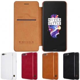 Nillkin Qin FlipCover OnePlus 5 mobilskal CaseOnline.se