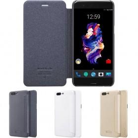 FlipCover Nillkin Sparkle OnePlus 5 mobil tillbehör skydd CaseOnline