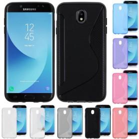 S Line silikon skal Samsung Galaxy J7 2017 SM-J730 mobil skydd CaseOnline.se