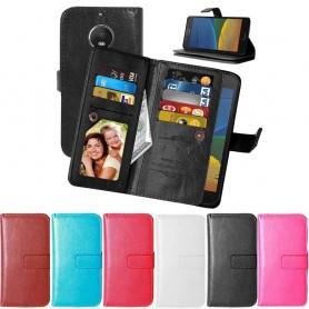 Dubbelflip Flexi 9kort mobilplånbok Motorola Moto G5S Plus mobilskal fodral