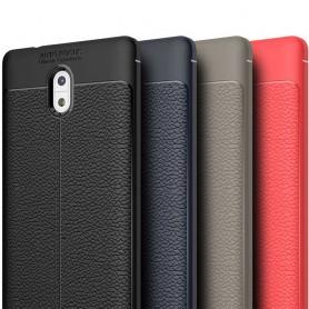 Läder mönstrat TPU skal Nokia 3 mobilskal caseonline