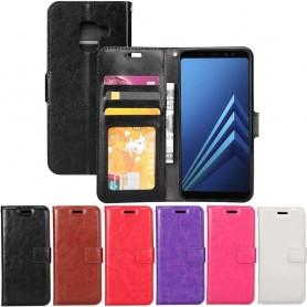 Mobilplånbok 3-kort Samsung Galaxy A8 2018 SM-A530F fodral mobilskal