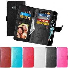 Mobilplånbok Dubbelflip Flexi 9 kort HTC U Play mobilskal
