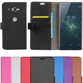 Mobilplånbok 2-kort Sony Xperia XZ2 Compact fodral flip mobilskal skydd