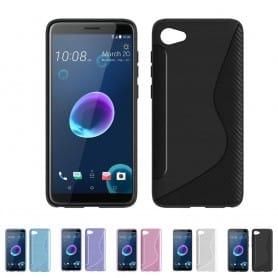 S Line silikon skal HTC Desire 12 mobilskal tpu