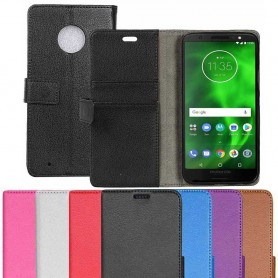 Mobilplånbok 2-kort Motorola Moto G6 mobilskal fodral skydd