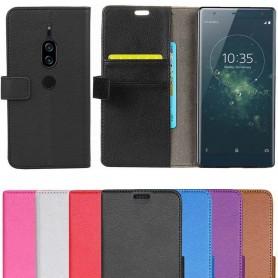 Mobilplånbok 2-kort Sony Xperia XZ2 Premium mobilskal väska fodral