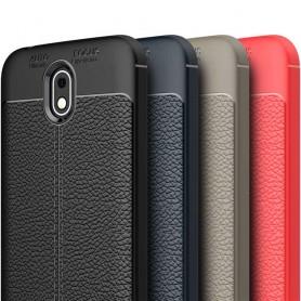 Läder mönstrat TPU skal Nokia 1 mobilskal skydd fodral