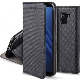 Moozy Smart Magnet FlipCase Samsung Galaxy A8 Plus 2018 mobilskal