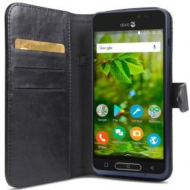 Doro 8035 Wallet Case - Svart mobilplånbok mobilskal