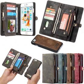 Multiplånbok 11 kort Apple iPhone 6 / 6S mobilskal plånbok väska fodral myntfack