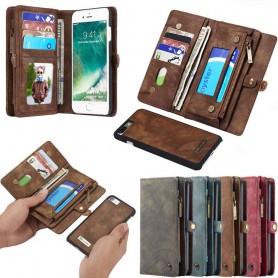 Multiplånbok 11 kort Apple iPhone 6 Plus mobilskal väska fodral myntfack