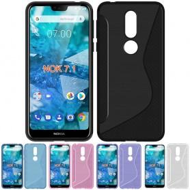S Line silikon skal Nokia 7.1 2018 (TA-1095) mobilskal