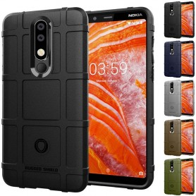 Rugged Shield skal Nokia 3.1 Plus (TA-1118) mobilskal silikonskal skydd caseonline