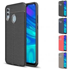 Läder mönstrat TPU skal Huawei P Smart 2019 (POT-LX1) mobilskal skydd fodral caseonline