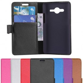 Samsung Galaxy Core 2 mobilplånbok 2-kort mobilskal väska fodral