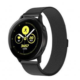 Milanese RSF stål Armband Samsung Galaxy Watch Active-Svart