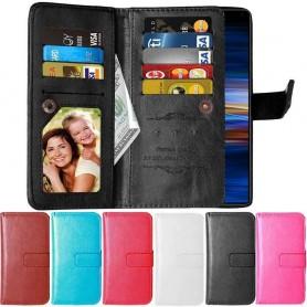 Dubbelflip Flexi 9-kort Sony Xperia 10 (I4113) mobilplånbok fodral mobilskal väska caseonline