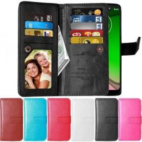 Dubbelflip Flexi 9-kort Motorola Moto G7 Play (XT1952)