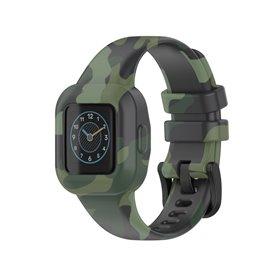 Gemustert Sport Silikon Armband Garmin Vivofit jr. 3 - Grün