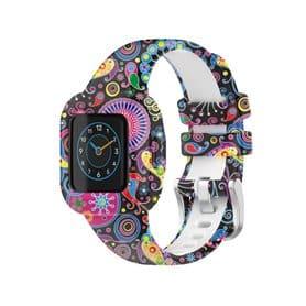 Gemustert Sport Silikon Armband Garmin Vivofit jr. 3 - Pfau