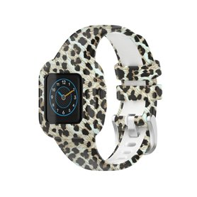 Gemustert Sport Silikon Armband Garmin Vivofit jr. 3 - Leopard
